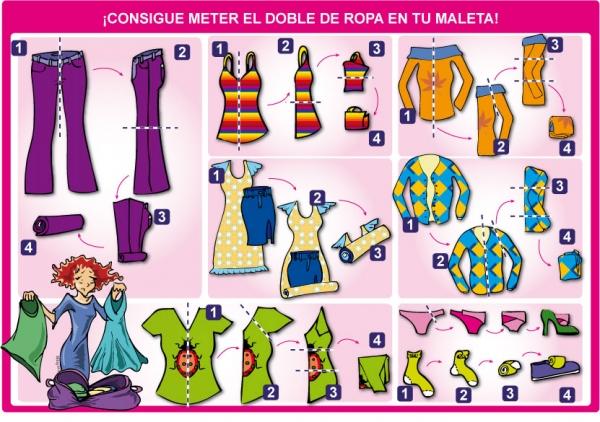 Tips esenciales a la hora de hacer la maleta venelog a - Como doblar ropa interior ...