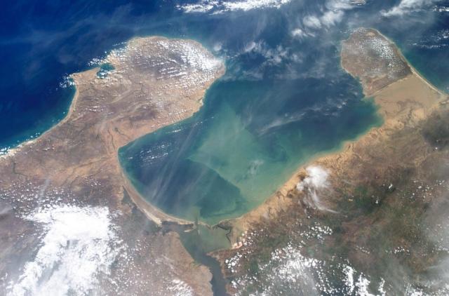 Imagen satelital del Golfo de Venezuela