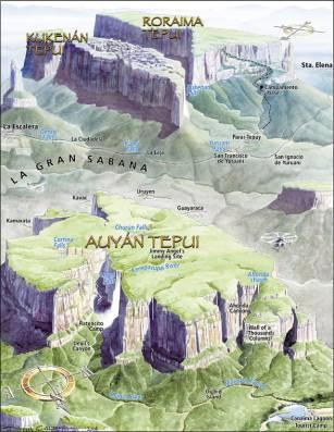 Mapa del Parque Nacional Canaima