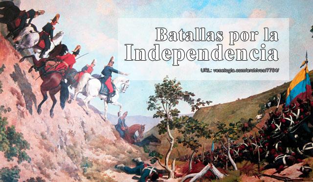 Las 80 batallas de la Guerra de Independencia de Venezuela  Veneloga