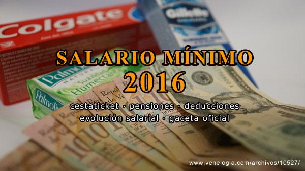 Salario mínimo 2016, salario mínimo venezolano, gaceta oficial, cestaticket