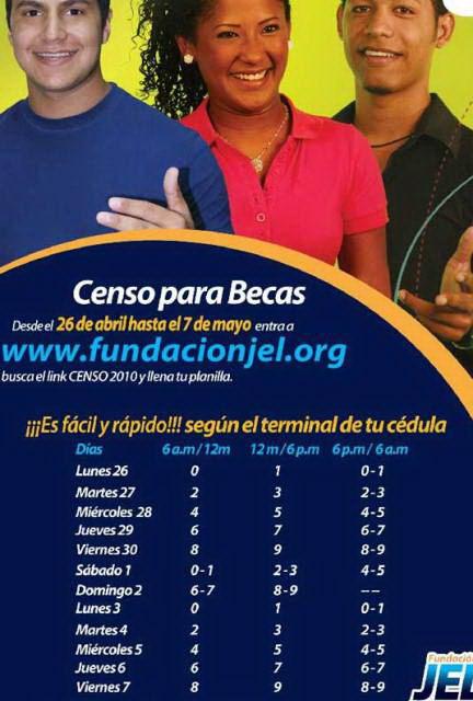 Becas JEL Censo 2010 (programa Jesus Enrique Lossada