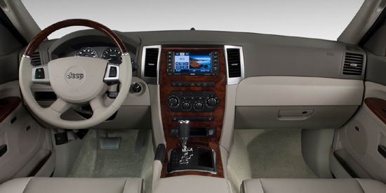 Interior del Jeep Grand Cherokee Limited