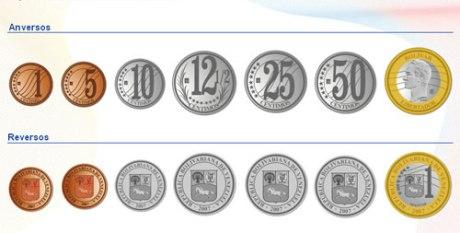 Monedas, Bolivar Fuerte, c�ntimos, Locha