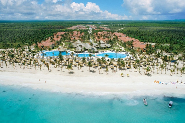 Vista aérea de Punta Cana, Santo Domingo
