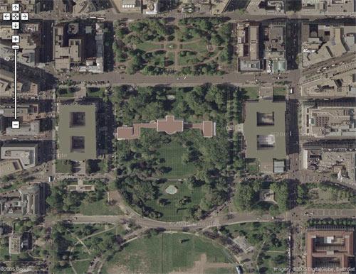 Foto satelital de la casa blanca google maps venelog a - Fotos de la casa blanca por fuera ...